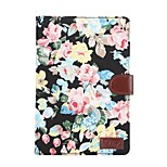 Tablet PC Flower Floral Flip Wallet Case Cover With Stand Holder Card Bag for iPad Mini 1/2/3(Assored Colors)