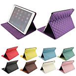especial padrão de grade de design da pu couro caso de corpo inteiro com suporte para o ipad ar / ipad 5 (cores sortidas)