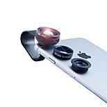 Apexel 3 in 1 No Dark Circle Fisheye and Macro & 0.67X Wide lens with Clip for iPhone 4/5/6S/6S Plus(Assorted Colors)