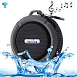 Outdoor / Indoor Portable IP65 Waterproof Wireless  3.0 Speaker w/ Micro SD - Black