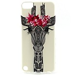 Deer Head Pattern TPU Soft Cover for iPhone Touch 5