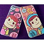 Cartoon Lovers Full Wrapping TPU Cases for iPhone6/iPhone 6s(Assorted Colors)