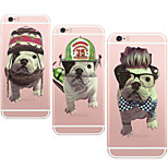 MAYCARI® Handsome Bulldogs Transparent TPU Back Case for iPhone 6/iphone 6S(Assorted Colors)