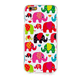 Colorful Elephant Pattern TPU Soft Case for iPhone 6