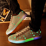 Star Fluorescence Emission Men And Women LED Shoes USB charging