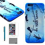 lexy® patrón de vuelo nube azul duro pc caja trasera con protector de pantalla de cristal 9h y de la aguja para el iphone 6 / 6s