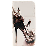 Sexy High-heeled Shoes Pattern Design PU Leather Full Body Case with Card Slot and Stand TPU Cover for iPod Touch 5