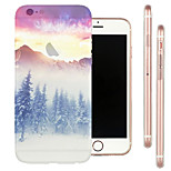 Limit Snow Top Scenery TPU Material Soft Phone Case for iPhone 6/6S