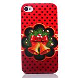 Natale campana uv vernice pc materiale cassa del telefono di Natale per iPhone 4 / 4S