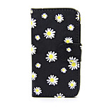 White Daisy PU Leather Wallet Full Body Case with Stand for Nokia Lumia 630/635
