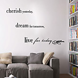 Wall Stickers Wall Decals Style Cherish The Past English Words & Quotes PVC Wall Stickers