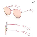 Women 's Mirrored  100% UV400 Browline Sunglasses