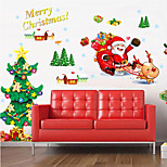 Christmas   Plane Wall Stickers  Wall Decor , PVC Removable
