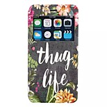 Thug life decoration pattern TPU+PU Flip window shell Case For iPhone6/6s