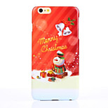 Christmas Snowman UV Varnish PC Material Christmas Phone Case for iPhone 6 /6S