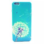 Blue Dandelion Pattern Hard Back Case for iPhone 6