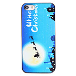 Christmas Style Santa at Night Pattern PC Hard Back Cover for iPhone 5/5S