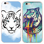 MAYCARI® Imposing Tigers Transparent TPU Back Case for iPhone 6/iphone 6S(Assorted Colors)