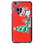 Christmas Style Cute Snowman Pattern PC Hard Back Cover for iPhone 6 Plus