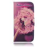 Dandelion Pattern PU Leather Material Suction Port Standoff Phone Case for iPhone 6 / 6S
