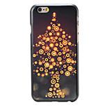 Weihnachten Stil Lichtbaummuster pc harte rückseitige Abdeckung für iphone 6