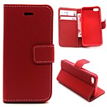 Matte Litchi Pattern PU Leather Full Body Cases Phone Protective Shell with Stand for iPhone 5/5S