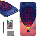 LEXY® Evening Balloon Pattern Hard PC Back Case with 9H Glass Screen Protector and Stylus for iPhone 6/6S