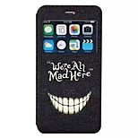 We are all mad here pattern TPU+PU Flip window shell Case For iPhone6/6s