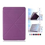 Kies-Muster PU-Leder Smart Cover dünnen Kanten Hartplastik-Etui für iPad Mini 4 (Farbe sortiert)