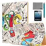 LEXY® Rock Star Pattern PU Leather Flip Stand Case with Screen Protector and Stylus for iPad Mini 4