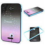2-in-1 Dandelion Dream Pattern TPU Back Cover + PC Bumper Shockproof Soft Case For Sony E4