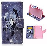 patrón infantil cubierta de plata caja de cuero de la PU con el soporte y el soporte de la tarjeta para Sony Xperia m4