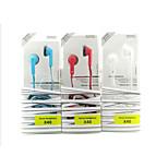 con anulación de ruido del micrófono en el auricular del oído para el iphone y otros teléfonos (colores surtidos) x40 de 3,5 mm de alta