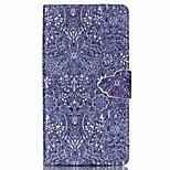Retro Flower Pattern PU Leather Phone Case For Sony M4
