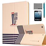 lexy® jamais grandir cas de stand modèle PU cuir flip avec protecteur d'écran et un stylet pour iPad mini-4
