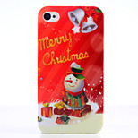Christmas Snowman UV Varnish PC Material Christmas Phone Case for iPhone 4 /4S