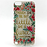 Cool Words Flower Painting Pattern TPU Soft Case for iPod Touch 5