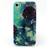 Flowers Pattern TPU Case for iphone 4G/4S