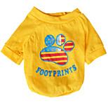 Katzen / Hunde T-shirt / Kleidung / Kleidung Grün / Gelb Sommer / Frühling/Herbst Nationalflagge Modisch-Pething®