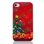 Albero di Natale uv vernice pc materiale cassa del telefono di Natale per iPhone 4 / 4S