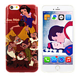 Disney Princess Snow White Material Semi-Transparent Case Free with Headfore HD Screen Protector for iPhone 6