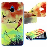 Smiling Face Feathers Words Phrase Pattern 0.6mm Ultra-Thin Soft Case for TPU Lumia N640XL