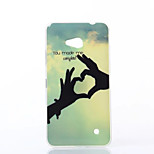 Cool POW Pattern TPU Soft Case for Nokia N640