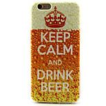 bere birra modello pittura TPU custodia morbida per il iphone 6 / 6s