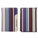 Classical Grid Pattern PU Leather Case Cover for iPad Mini 4(Assorted Colors)