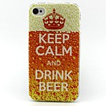 Keep Pattern TPU Case for iphone 4G/4S