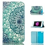 Pattern Card Stand PU Leather Protective Shell Case Cover for iPhone 6 / 6S