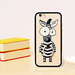 Zebra TPU PC Combo Material Bracelet Holder Section Phone Case for iPhone 6/6S