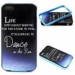 2-en-1 de danse dans le motif de pluie Coque arrière en TPU + pc pare-chocs étui antichoc pour iPhone 4 / 4S