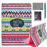 LEXY® Red Tribal Carpet Pattern PU Leather Flip Stand Case with Screen Protector and Stylus for iPad Air/iPad 5